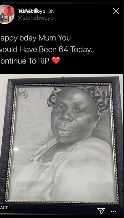 stonebwoy-mother-64-birthday